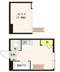 東京メトロ丸ノ内線 東高円寺駅 徒歩3分の賃貸アパート 1階ワンルームの間取り
