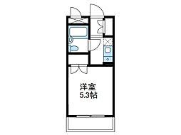 神奈川県座間市相武台3の賃貸マンションの間取り