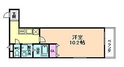 阪急宝塚本線 服部天神駅 徒歩11分の賃貸アパート 2階1Kの間取り