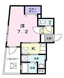 サマー ウィン Toho 3階1LDKの間取り