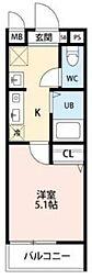 埼玉新都市交通 鉄道博物館(大成)駅 徒歩5分の賃貸アパート 1階1Kの間取り