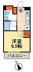 JR総武線 本八幡駅 徒歩3分の賃貸マンション 4階1Kの間取り