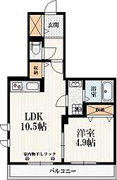 OZ吉祥寺 1階1LDKの間取り