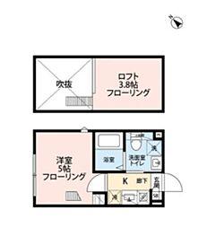 プロスペリティ・カーサ  下北沢 2階1Kの間取り