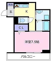 VILLA北花田D-room[1階]の間取り