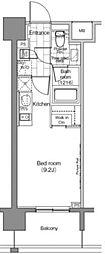 JR山手線 恵比寿駅 徒歩2分の賃貸マンション 11階ワンルームの間取り