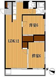 千葉県松戸市稔台2丁目の賃貸マンションの間取り