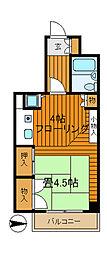 ペルソナージュ横浜[413号室]の間取り