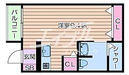 Osaka Metro今里筋線 太子橋今市駅 徒歩5分の賃貸アパート 1階ワンルームの間取り