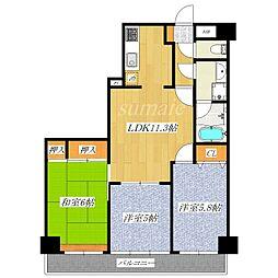 ライオンズマンション赤羽第2[4階]の間取り