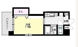 福岡県福岡市早良区室見2丁目の賃貸マンションの間取り