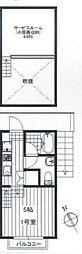 JR総武線 東船橋駅 徒歩14分の賃貸アパート 2階1Kの間取り