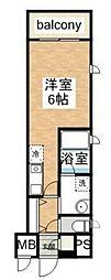 ピュアハートミナミ[4階]の間取り