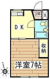ハイツ秋山[203号室]の間取り