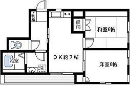 サンスクエアTSURUMI[2階]の間取り