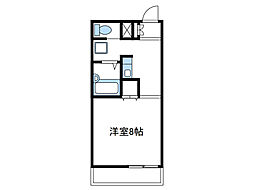 神奈川県伊勢原市粟窪の賃貸マンションの間取り