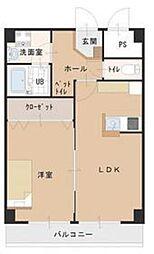 泉北高速鉄道 栂・美木多駅 徒歩15分の賃貸マンション 3階1LDKの間取り