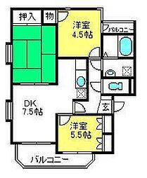 小宮マンション[102号室]の間取り