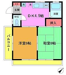 千葉県市川市大洲3の賃貸アパートの間取り