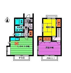 [テラスハウス] 東京都練馬区石神井台2丁目 の賃貸【東京都 / 練馬区】の間取り