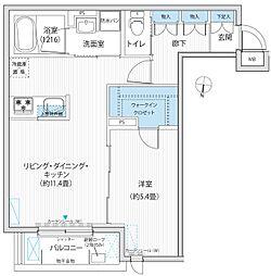 BLESS新中野[2階]の間取り