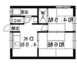 鳥飼山本荘[20号室]の間取り
