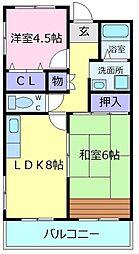 初芝壱番館[3階]の間取り