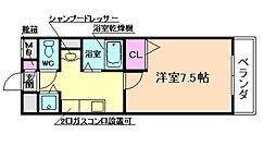 大阪府豊中市穂積2丁目の賃貸マンションの間取り