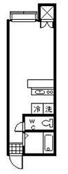 JR白新線 西新発田駅 徒歩27分の賃貸アパート 2階1Kの間取り