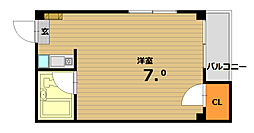 ベル板宿II[5階]の間取り