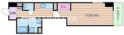 Osaka Metro御堂筋線 西田辺駅 徒歩8分の賃貸マンション 3階1Kの間取り