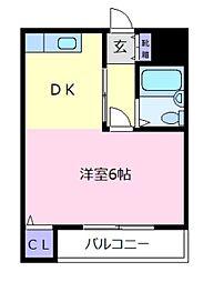 大阪府松原市東新町4の賃貸マンションの間取り