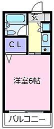 ラ・テール西田弐番館[2階]の間取り