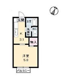 メゾン デラ W C棟[2階]の間取り