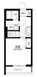 JR中央線 三鷹駅 徒歩11分の賃貸アパート 3階1Kの間取り