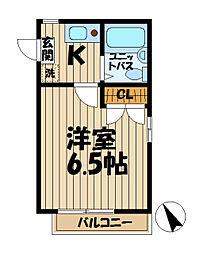 ドルフィン山崎I[2階]の間取り