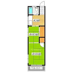 永山コーポ[2階]の間取り
