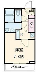 THE CLASS OMORI 2階1Kの間取り