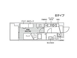 JR越後線 新潟大学前駅 徒歩5分の賃貸マンション 9階1Kの間取り