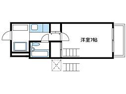 神奈川県厚木市戸室5丁目の賃貸マンションの間取り
