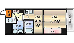 Krehl宿院[7階]の間取り