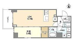 京王線 上北沢駅 徒歩9分の賃貸マンション 5階1LDKの間取り