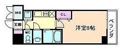 シャルマンフジ天神橋[2階]の間取り
