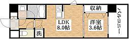 JR関西本線 平野駅 徒歩4分の賃貸マンション 3階1LDKの間取り