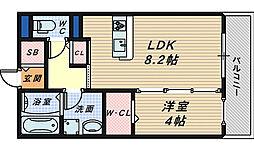 ラ・メゾン・ドゥ・サチ[3階]の間取り