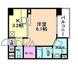 ウィズユー[2階]の間取り