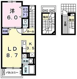 フリシュレジデンス[3階]の間取り