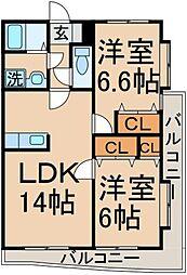 中央エステート[1階]の間取り