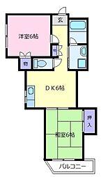 レークハイツ[3階]の間取り