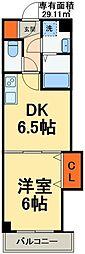 JR京葉線 稲毛海岸駅 徒歩6分の賃貸マンション 1階1DKの間取り